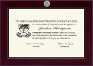Kent School in Connecticut Diploma Frame - Century Silver Engraved Diploma Frame in Cordova