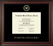 Northfield Mount Hermon School Diploma Frame - Gold Embossed Diploma Frame in Studio