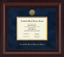 Northfield Mount Hermon School Diploma Frame - Presidential Gold Engraved Diploma Frame in Premier