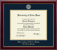 University of Notre Dame Diploma Frame - Masterpiece Medallion Diploma Frame in Gallery