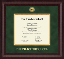 The Thacher School Diploma Frame - Presidential Gold Engraved Diploma Frame in Premier