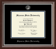Shawnee State University Diploma Frame - Silver Embossed Diploma Frame in Devonshire