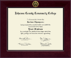 Johnson County Community College Diploma Frame - Century Gold Engraved Diploma Frame in Cordova