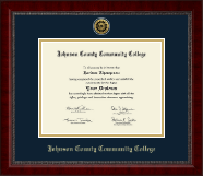 Johnson County Community College Diploma Frame - Gold Engraved Medallion Diploma Frame in Sutton