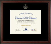 Embossed Law Certificate Frame