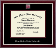 New Mexico State University in Las Cruces Diploma Frame - Masterpiece Medallion Diploma Frame in Gallery Silver