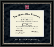 New Mexico State University in Las Cruces Diploma Frame - Regal Edition Diploma Frame in Noir