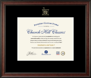 Embossed Pharmacy Certificate Frame