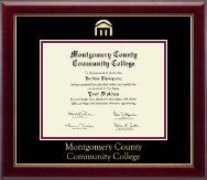 Montgomery County Community College Diploma Frame - Gold Embossed Diploma Frame in Gallery