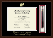 Montgomery County Community College Diploma Frame - Tassel Edition Diploma Frame in Delta