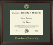 Franciscan University of Steubenville Diploma Frame - Gold Embossed Diploma Frame in Studio