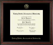 Embry-Riddle Aeronautical University Diploma Frame - Gold Embossed Diploma Frame in Studio