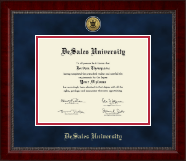 DeSales University Diploma Frame - Gold Engraved Medallion Diploma Frame in Sutton