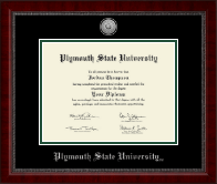 Plymouth State University Diploma Frame - Silver Engraved Medallion Diploma Frame in Sutton