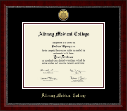 Albany Medical College Diploma Frame - Gold Engraved Medallion Diploma Frame in Sutton