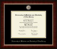 University of Medicine and Dentistry of New Jersey Diploma Frame - Masterpiece Medallion Diploma Frame in Murano