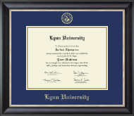 Lynn University Diploma Frame - Gold Embossed Diploma Frame in Noir