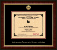 North American Transportation Management Inst Certificate Frame - Gold Engraved Medallion Certificate Frame in Murano