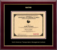 North American Transportation Management Inst Certificate Frame - Gold Embossed Certificate Frame in Gallery