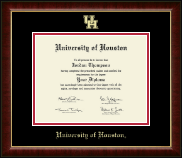 University of Houston Diploma Frame - Gold Embossed Diploma Frame in Murano