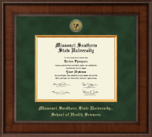 Missouri Southern State University Diploma Frame - Presidential Gold Engraved Diploma Frame in Madison