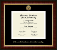 Missouri Southern State University Diploma Frame - Gold Engraved Medallion Diploma Frame in Murano