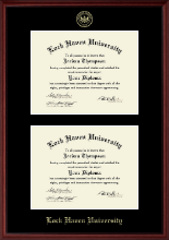 Lock Haven University Diploma Frame - Double Diploma Frame in Camby