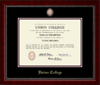 Union College in New York Diploma Frame - Masterpiece Medallion Diploma Frame in Sutton