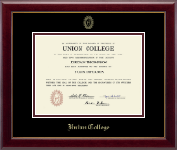 Union College in New York Diploma Frame - Gold Embossed Diploma Frame in Gallery