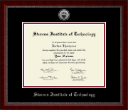 Stevens Institute of Technology Diploma Frame - Silver Engraved Medallion Diploma Frame in Sutton