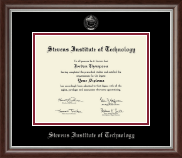 Stevens Institute of Technology Diploma Frame - Silver Embossed Diploma Frame in Devonshire