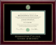 Manhattan College Diploma Frame - Masterpiece Medallion Diploma Frame in Gallery