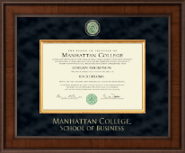 Manhattan College Diploma Frame - Presidential Masterpiece Diploma Frame in Madison