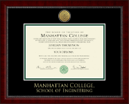 Manhattan College Diploma Frame - Gold Engraved Medallion Diploma Frame in Sutton