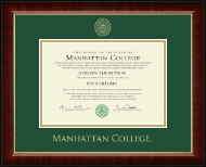Manhattan College Diploma Frame - Gold Embossed Diploma Frame in Murano