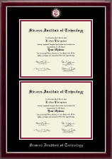 Stevens Institute of Technology Diploma Frame - Masterpiece Medallion Double Diploma Frame in Gallery Silver