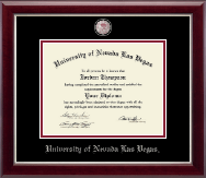 University of Nevada Las Vegas Diploma Frame - Pewter Masterpiece Medallion Diploma Frame in Gallery Silver