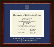 University of California Irvine Diploma Frame - Gold Embossed Diploma Frame in Murano
