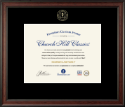 Academic Certificate Frames and Gifts Certificate Frame - Embossed Academic Certificate Frame in Studio