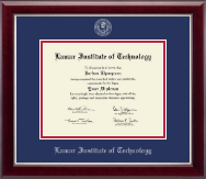 Lamar Institute of Technology Diploma Frame - Silver Embossed Diploma Frame in Gallery Silver
