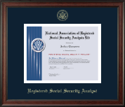 National Association of Registered Social Security Analysts Certificate Frame - Gold Embossed Certificate Frame in Studio