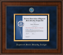 National Association of Registered Social Security Analysts Certificate Frame - Presidential Masterpiece Certificate Frame in Madison