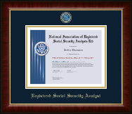 National Association of Registered Social Security Analysts Diploma Frame - Masterpiece Medallion Diploma Frame in Murano