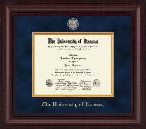 The University of Kansas Diploma Frame - Presidential Masterpiece Diploma Frame in Premier