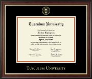 Tusculum University Diploma Frame - Gold Embossed Diploma Frame in Studio Gold