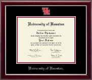 University of Houston Diploma Frame - Masterpiece Spirit Medallion Diploma Frame in Gallery Silver