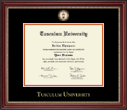 Tusculum University Diploma Frame - Masterpiece Medallion Diploma Frame in Kensington Gold