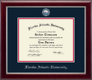 Florida Atlantic University Diploma Frame - Masterpiece Medallion Diploma Frame in Gallery Silver