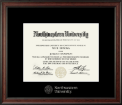 Northwestern University Diploma Frame - Silver Embossed Diploma Frame in Studio