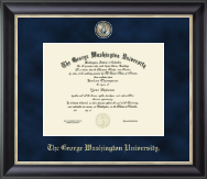 The George Washington University Diploma Frame - Regal Edition Diploma Frame in Noir